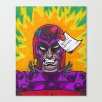 magneto Canvas Prints featuring Magneto by monsterlash