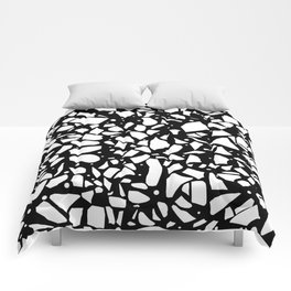 Terrazzo Spot 2 Black Comforters