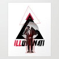 illuminati Art Prints featuring ILLuminati by Jimi Thompson