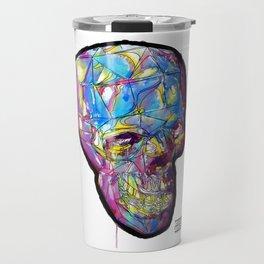 Painted Skull Travel Mug