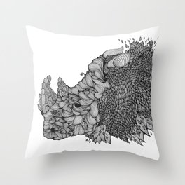 A RHINO Throw Pillow
