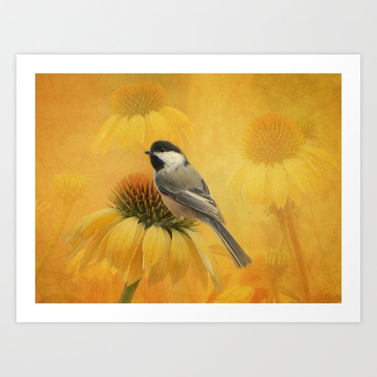 Little Chickadee Art Print