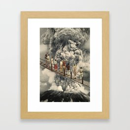 the eruption... Framed Art Print