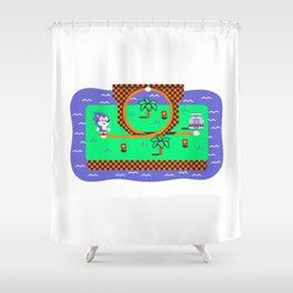 Overworld: Loop Shower Curtain
