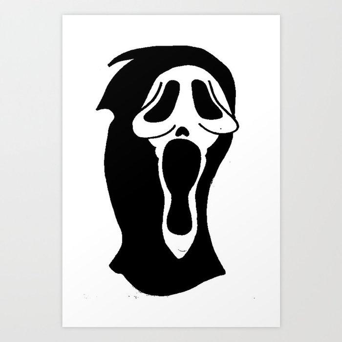 Scream - Ghost Face Art Print