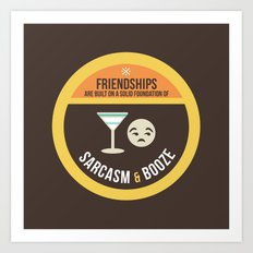 Foundations of Friendship Art Print