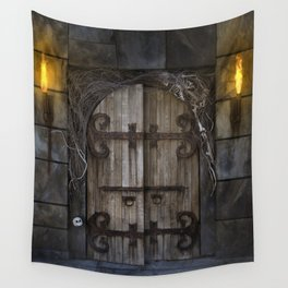 Gothic Spooky Door Wall Tapestry
