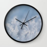 frozen Wall Clocks featuring Frozen by Iveta S.