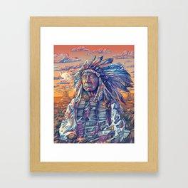 native american portrait-red cloud Framed Art Print