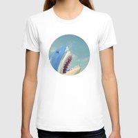 shark T-shirts featuring Shark! by Cassia Beck
