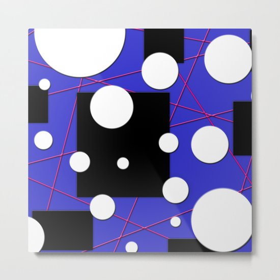 Geo Shape Play Metal Print