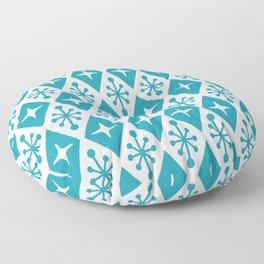 Mid Century Modern Atomic Triangle Pattern 119 Floor Pillow