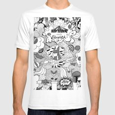 To Infinity And Beyond Mens Fitted Tee MEDIUM White