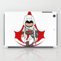 assassins creed iPad Cases featuring Altaïr Ibn-La'Ahad: Assassins Creed Chibi by SushiKitteh'sCreations