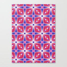 Watercolor Geometry Mod Pink Canvas Print