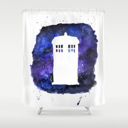 On Our Way to Gallifrey Shower Curtain