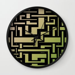 Abstract Nature Labirint Wall Clock