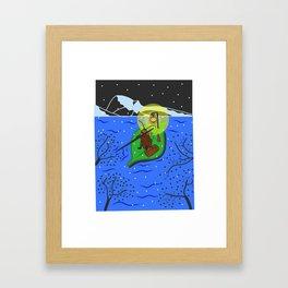 Cold night Framed Art Print