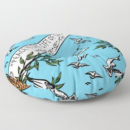 Peace is the Gift of God Floor Pillow