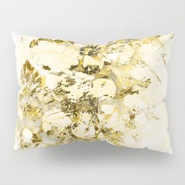 Gold Cherry Blossom Plaster Pillow Sham