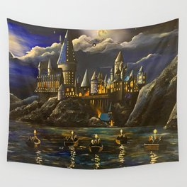 Castel at Starry night Wall Tapestry