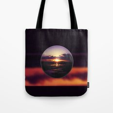 Float on the clouds like a drop of dew and bask in the light of a sunrise view Tote Bag