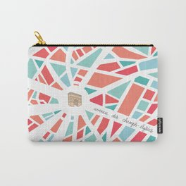 Paris Minimal Map Carry-All Pouch
