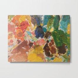 Art Palette, Rainbow, all the colors, oil paint, artist, fine art Metal Print