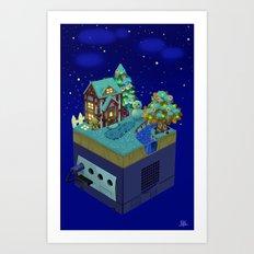 Animal Crossing- Winter Art Print