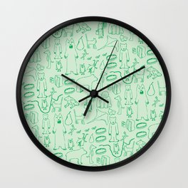 green montage Wall Clock
