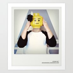 Minifig me ! – Everyone has a LEGO piece inside - 13 Art Print