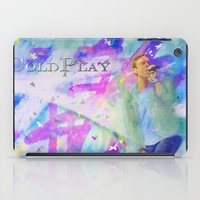 coldplay iPad Cases featuring Chris Martin-Coldplay-Digital Impressionism by Sophie Grace