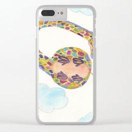 Giraffe In The Sky Clear iPhone Case