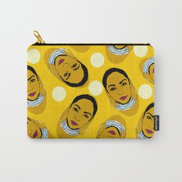 Yellow Ms. Adu Pattern Lover's Rock Carry-All Pouch