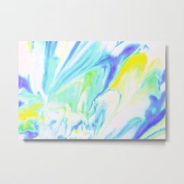 Neon Heat Wave Metal Print