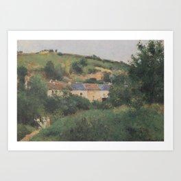 Camille Pissarro - View of the Côte des Gratte-Coqs, Pontoise Art Print
