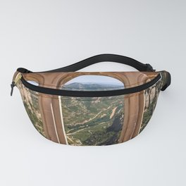 Vintage windows to the mountains. Fanny Pack