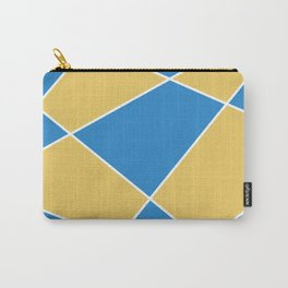 Geometric abstract - orange and blue. Carry-All Pouch
