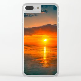 The sun watchers Clear iPhone Case