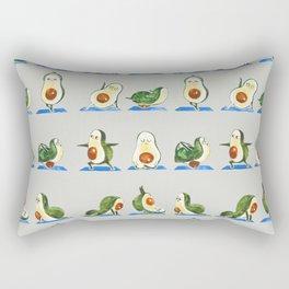 Avocado Yoga Watercolor Rectangular Pillow