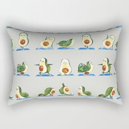 Avocado Yoga Watercolor Rectangular Pillow