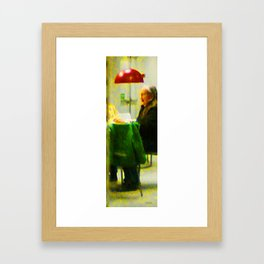 Old Woman at IKEA Framed Art Print