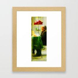 Old Woman at IKEA Framed Art Print