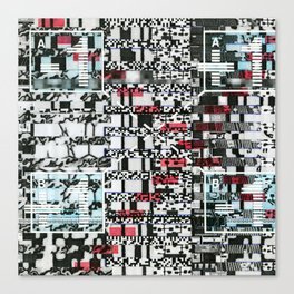 Part Wash (P/D3 Glitch Collage Studies) Canvas Print