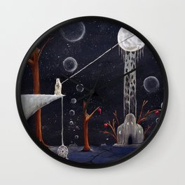 I'll Give You The Moon Panel 1 Wall Clock