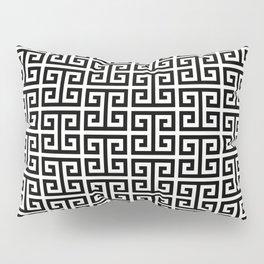 Black and White Greek Key Pattern Pillow Sham