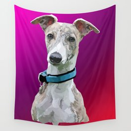 Low Poly Roo (Whippet) Wall Tapestry
