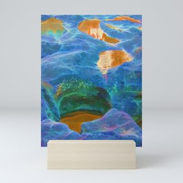 Abstract beautiful rock pools in the late afternoon Mini Art Print