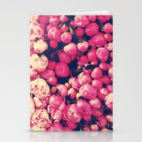 peonies Stationery Cards featuring Peonies by Sasha H