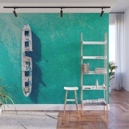 I'm All Alone But Not Lonely, Aerial Print, Shipwreck Print, Art Print, Modern Wall Art, Sea Print Wall Mural